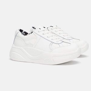 {Zara} Platform 'Over-Sized' White Sneakers